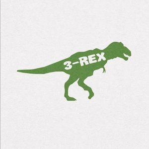 "Toddler ""3-REX"" White Shirt"